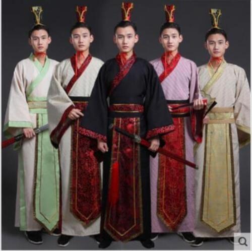 Retro Men Chivalrous Expert Swordsman Dress Hanfu Costume Cosplay Performance sz