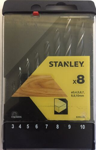 Stanley X 8 Pieces Wood Drill Bits STA 56006
