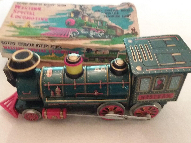 Vintage M.T.modern Toy Litho Tin Train.