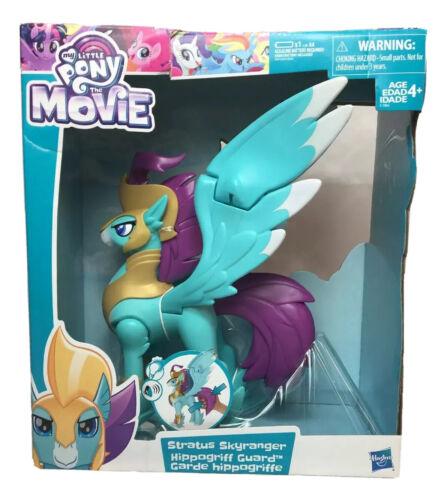 My Little Pony The Movie Stratus Skyranger Hippogriff Guard Boneco novo em folha.