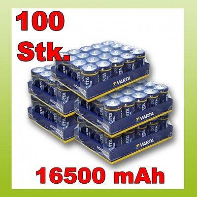 100 Stk Varta C Baby Industrial 1,5V LR14 Batterie Bulk 100x