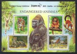 Irland 1998 Gefährdete Tieren Stampa '98 Miniatur Blatt Nicht Gefaßt Mint, MNH