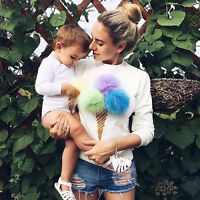 Fashion Women Lady Girl Ice Cream Blouse Tops Shirt Long Sleeve Clothes Hoodie