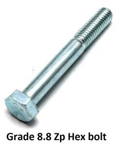 Qty 5 Hex Bolt M12 (12mm) x 120mm Zinc Plated High Tensile Class 8.8 Set Screw