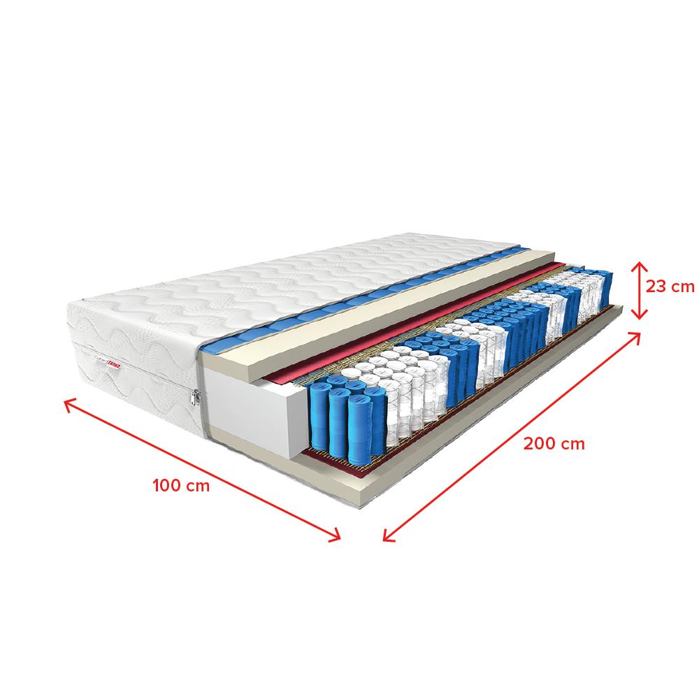 Taschenfederkernmatratze CLASSY CLASSY CLASSY mit Kaltschaum H3 Zweiseitig 70x200 bis 200x200 9897e4