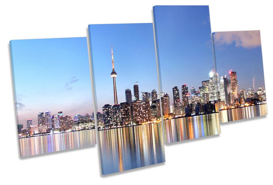 Canadá Toronto City Skyline Skyline Skyline Multi tela pa rojo  arte Foto Impresión a562b2