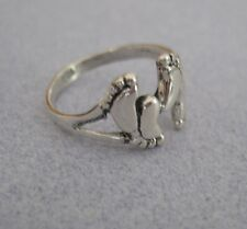 Mexican 925 Silver Taxco Kama Sutra Love Making FEET Sex Shiny Unisex Ring  7.5