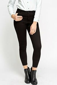 Ex Bershka New Short leg lenght Women s High Waisted Black Skinny ... 6feef10f1