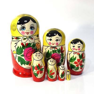 """h= 3.5/"""" Russian Babushka Semenov Nesting dolls Matryoshka set 4 pcs #2"""