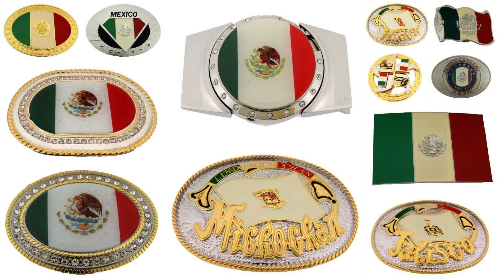 12 Teile Großhandel Viel Gürtel Schnallen Aus Hecho En Mexico Mexikanisch Flagge