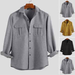 NEW-Men-039-s-Long-Sleeve-Shirt-Tactical-Cargo-Shirts-Casual-Hiking-Army-Shirts-Tops