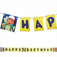Handy Manny Happy Birthday Banner (1) Boy Party Supplies Hanging Decorations