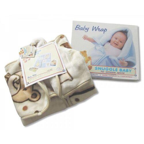 Sheldon Snuggle Baby Hooded Wrap Gift Box Blue 0m+