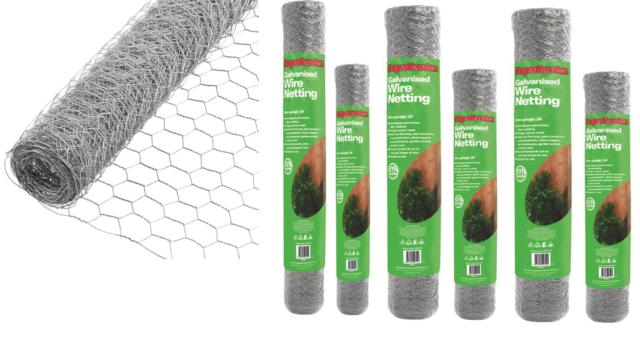 Wire Mesh Galvanised Fencing Chicken Netting Rabbit Fence Pet Garden 25mm/50mm