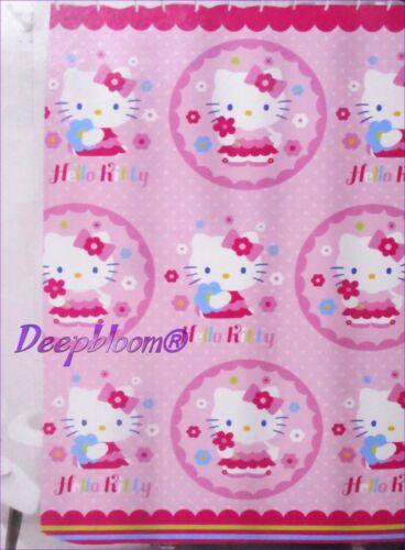 HELLO KITTY BATH FABRIC SHOWER CURTAIN KIDS GIRLS PINK 72 x 72 NEW