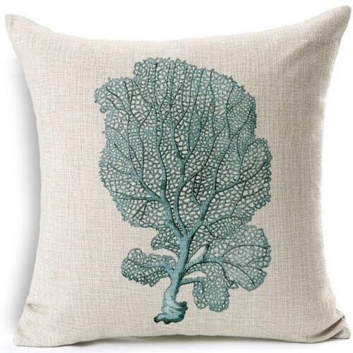 """18/"""" Sea animals Cotton Linen Pillow Case Sofa Cushion Cover Fashion Home Decor"""