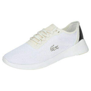 0d1d7303a Lacoste Lt Fit 318 1 Mens White Silver Mesh   Synthetic Trainers