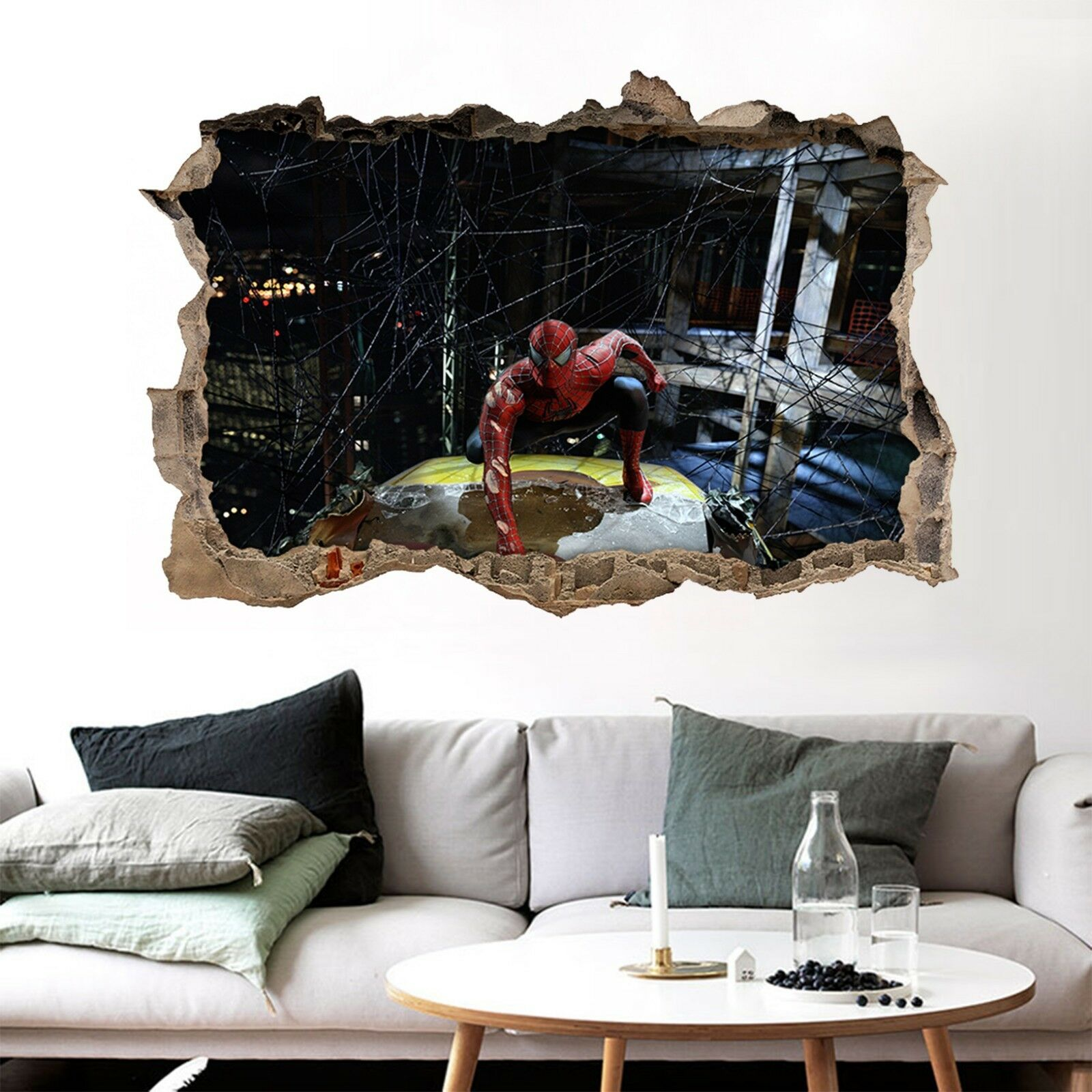 3D Eroe Della Città 305 Parete Murales Adesivi Decal Sfondamento AJ WALLPAPER IT