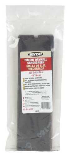 HYDE 09909 Sanding Hand Pad,11-1//4in.L.,Black,PK25