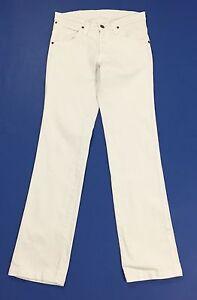 Wrangler-jeans-rockville-W30-tg-44-uomo-gamba-dritta-bianco-slim-usato-T1655
