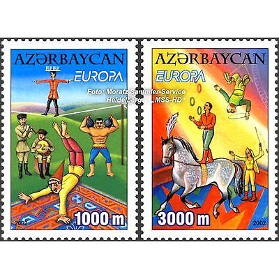 Angemessen Aserbaidschan Azerbaijan Europa Cept 2002, Zirkus, Satz ** Komplett (postfr.) Im Sommer KüHl Und Im Winter Warm