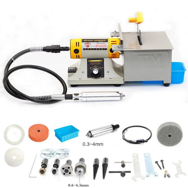 110V NEW TM-2 Jewelry Rock Polishing Buffer Machine Bench Lathe Polisher 350W
