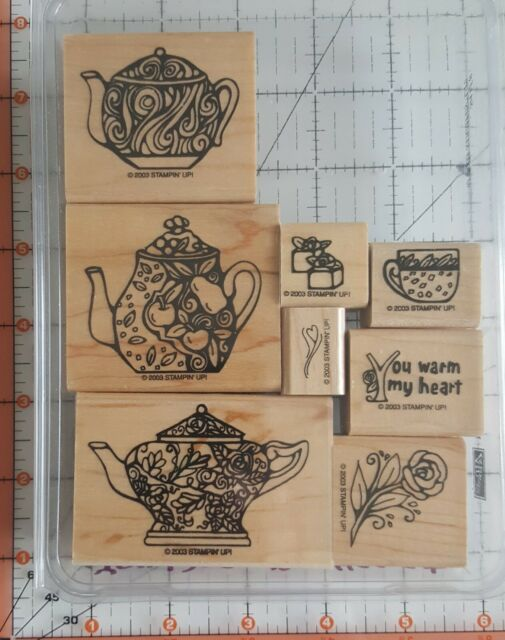 Touched My Heart Set of 8 Rubber stamps NEW Stampin up Retired