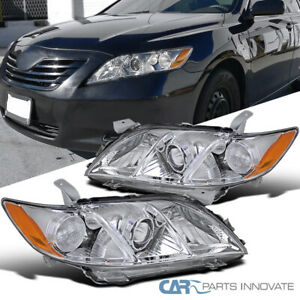 For 07-09 Toyota Camry CE LE SE Clear Projector Headlights Headlamps Left+Right