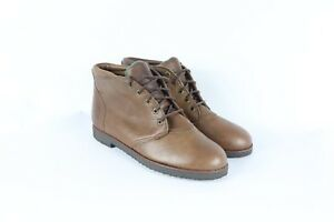 Chukka Leather New Womens Brown Wing Chukkas Red Schoenen Up Vintage Lace Boots 10 tsdrQCh