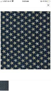 Rustics Stars on Navy Fabric 100/% Cotton Fabric Patriotic Fabric Fabric By The Yard Holiday Fabric