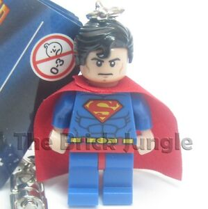 Lego Superman minifig keyring / keychain from Marvel / DC superheroes comics