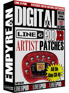Line 6 POD X3 Artist Patches Guitar Effects Tone Presets