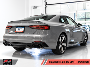 Details about AWE TUNING 2018-2019 AUDI RS5 B9 2 9TT TRACK EDITION EXHAUST  DIAMOND BLACK TIPS