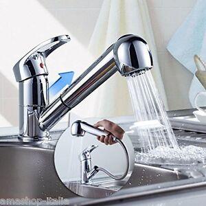 Auralum miscelatore rubinetto estraibile del lavandino con - Rubinetto cucina con doccetta estraibile ...
