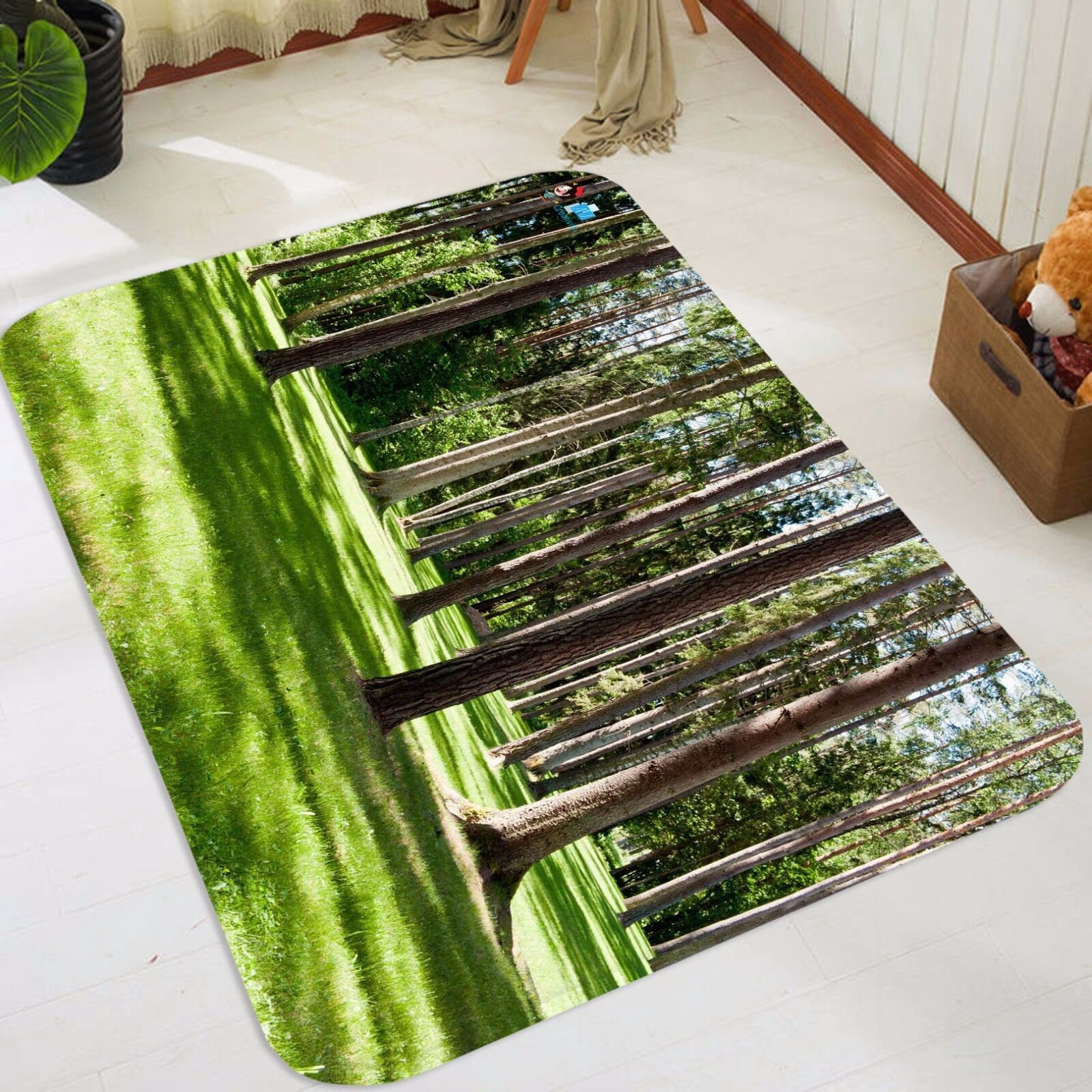 3D Grassland Tree 458 Non Slip Rug Mat Room Mat Quality Elegant Photo Carpet CA