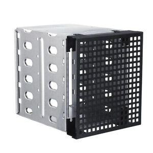 Cage-Tray-Caddy-Rack-for-5x3-5-034-SATA-SAS-HDD-Hard-Drive-3x-5-25-034-size-fan