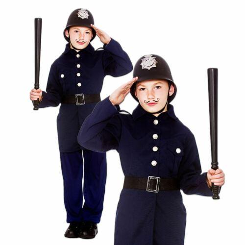 Child VICTORIAN POLICEMAN Cop Boy Police Military Fancy Dress Book Week Costume