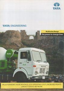 Tata Multiaxles Truck Range (base Mercedes-benz, India) _ 2000 Prospectus/brochure-afficher Le Titre D'origine