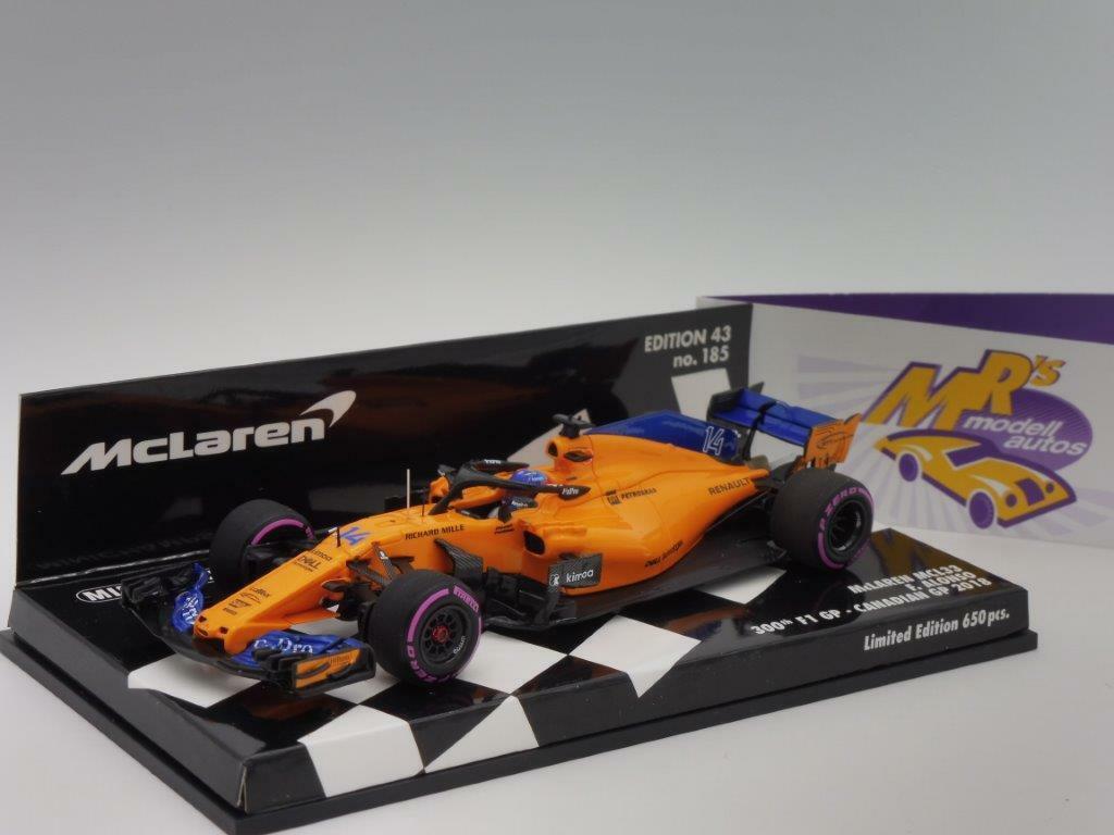 Minichamps 537184714 - McLaren MCL33 F1 300th GP Canadian   F. Alonso   1 43 NEU