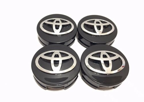 Camry 62MM Avalon Matrix, Corolla #42603-12730 4 pcs Black Toyota