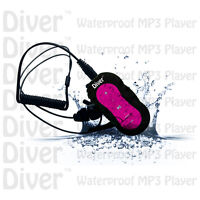 Diver (tm) Waterproof Mp3 Player. Swim. With Headphones. Usb Ipx8 4gb. Pink.