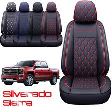 Car Seat Cover Leather For Chevy Silverado Gmc Sierra 2007 2021 1500 25003500hd