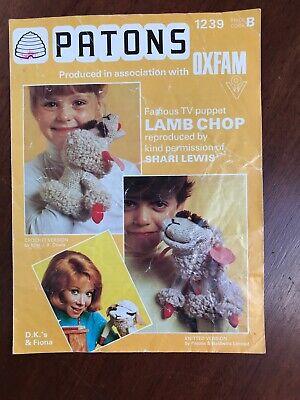 Knitting Crochet Pattern Lamb Chop Hand Puppet Shari Lewis ...