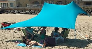 Image is loading Lightweight-Sun-shade-Protection-Beach-Shelters-Tent-Canopy - & Lightweight Sun shade Protection Beach Shelters Tent Canopy with ...
