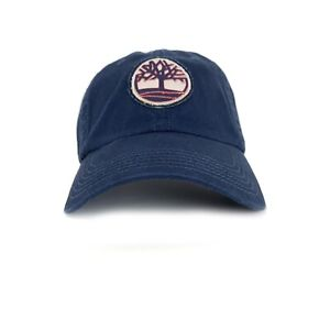 98845fed1 Timberland Men's Tree Logo Cotton Dark Navy Baseball Hat A1EJT | eBay