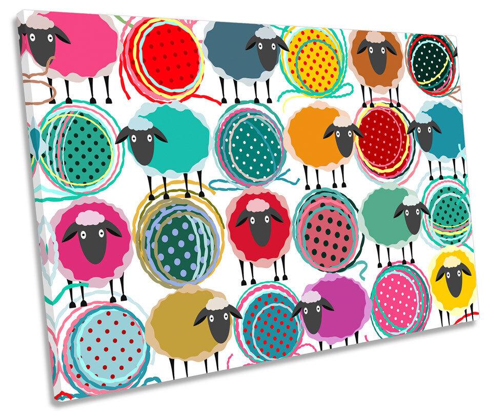 Sheep Wool Pattern CANVAS WALL ART SINGLE Picture Print
