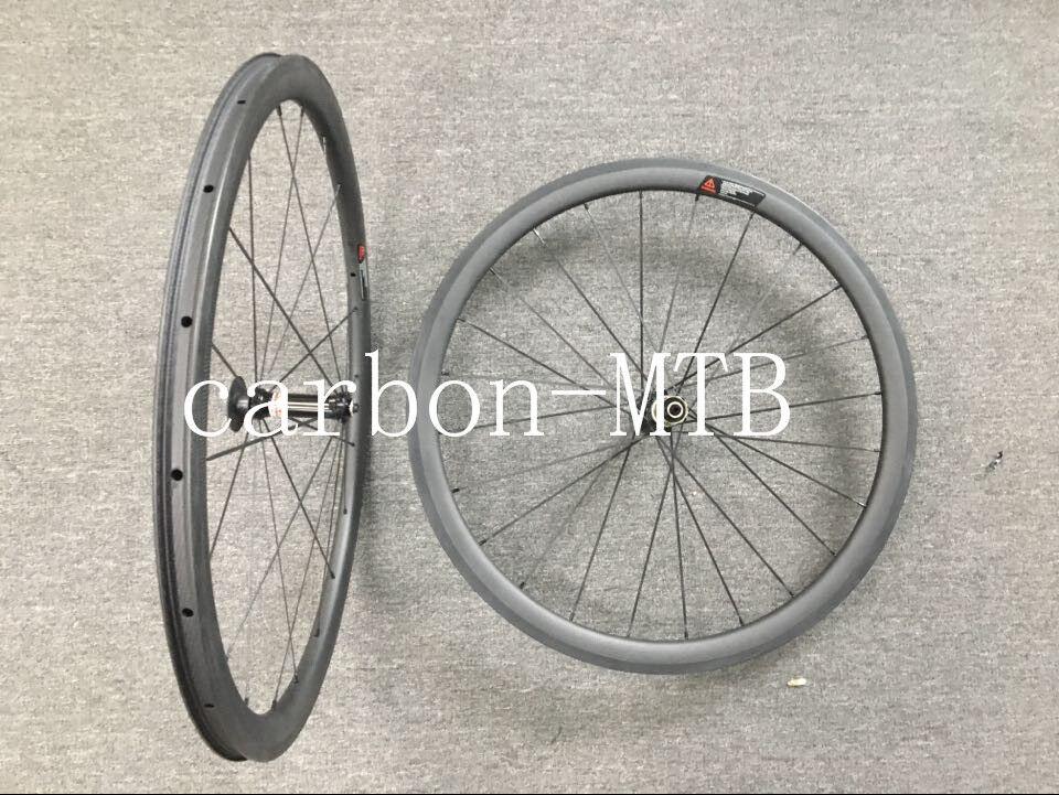700C 38mm Clincher Carbon Wheels Novatec 511 522 Hub Road Bike Wheelset Tubeless
