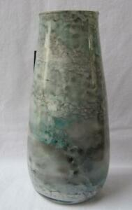 Italian Art Glass Vase Franco Italy Turquoise and Gray No 189 Mother's Day Gift
