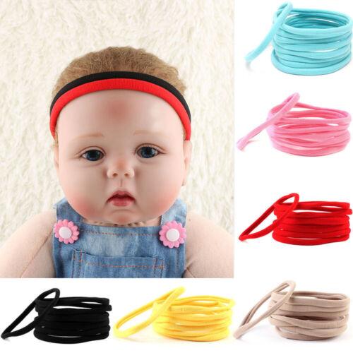 Non-Marking Skinny Elastic Baby Girl Headwear Spandex Nylon Stretchy Headband