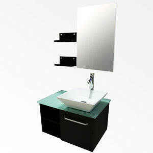 28 bathroom vanity cabinet ceramic sink bowl modern design w mirror